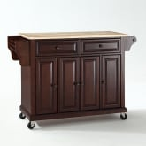 FULL SIZE WOOD TOP KITCHEN CART