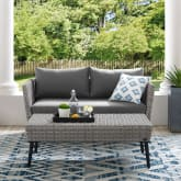 RICHLAND OUTDOOR WICKER CHAT SET