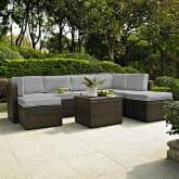 PALM HARBOR 8PC OUTDOOR WICKER SECTIONAL SET