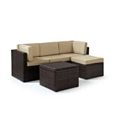 PALM HARBOR 5PC OUTDOOR WICKER SECTIONAL SET