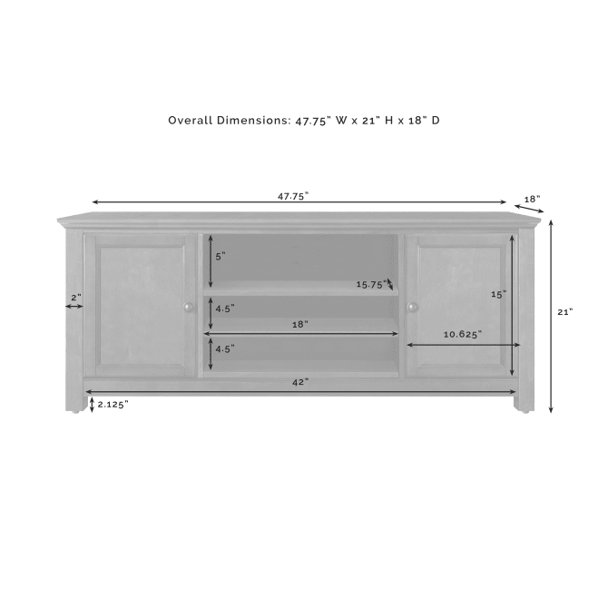 "48"" LOW PROFILE TV STAND"