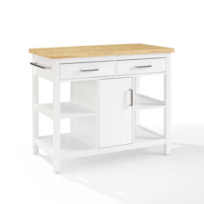 AUDREY WOOD TOP KITCHEN ISLAND