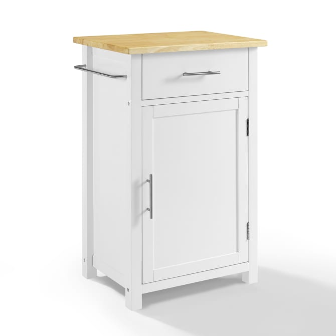 SAVANNAH WOOD TOP COMPACT KITCHEN ISLAND/CART
