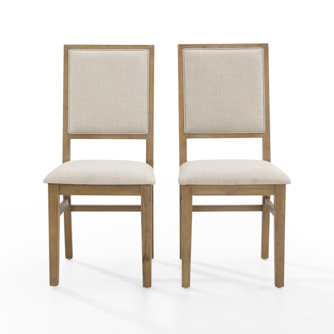 JOANNA 2PC UPHOLSTERED BACK CHAIR SET