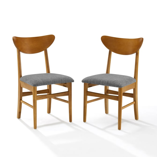 LANDON 2PC WOOD DINING CHAIRS W/UPHOLSTERED SEAT