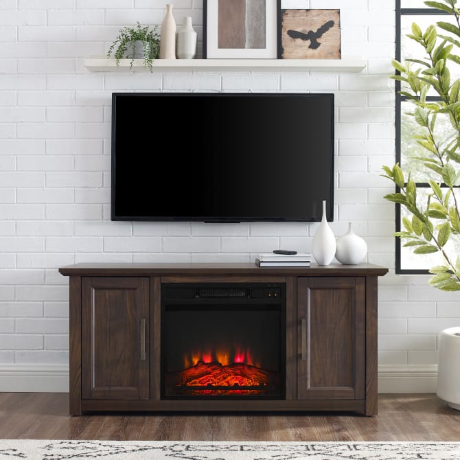 "CAMDEN 48"" LOW PROFILE TV STAND W/FIREPLACE"