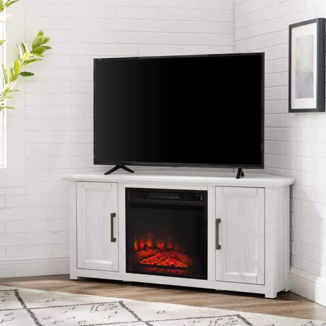 "CAMDEN 48"" CORNER TV STAND W/FIREPLACE"