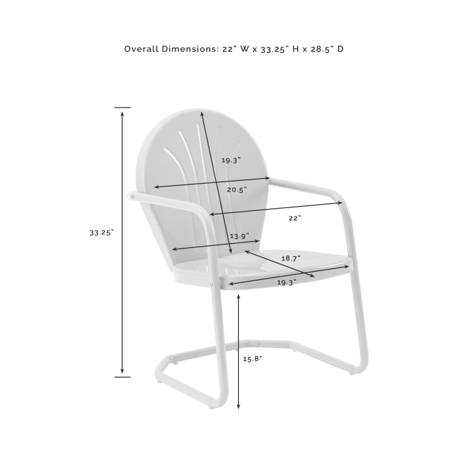 GRIFFITH OUTDOOR METAL ARMCHAIR