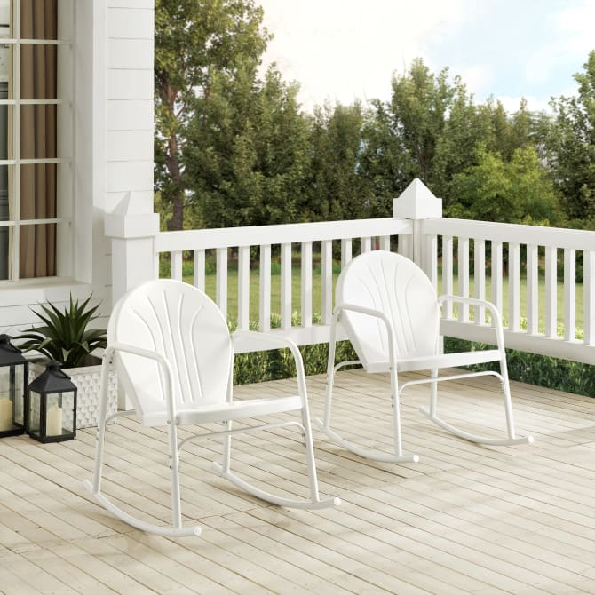 GRIFFITH 2PC OUTDOOR METAL ROCKING CHAIR SET