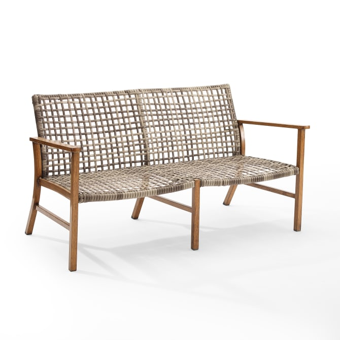 RIDLEY OUTDOOR WICKER AND METAL LOVESEAT