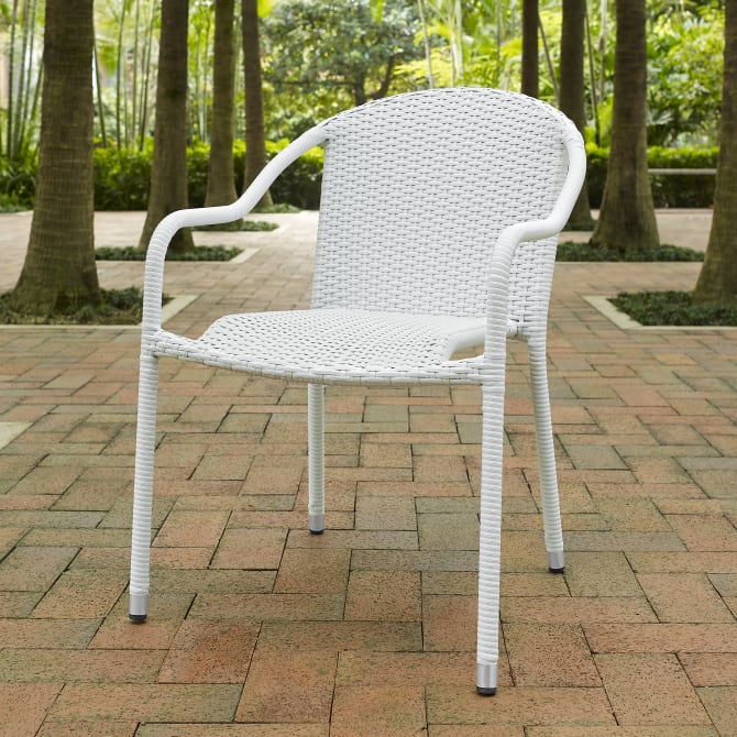 PALM HARBOR 4PC OUTDOOR WICKER STACKABLE CHAIR SET