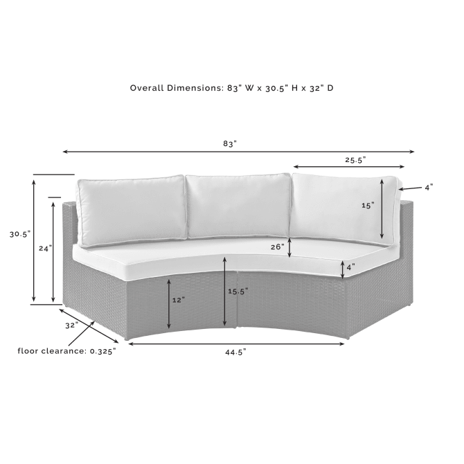 CATALINA OUTDOOR WICKER ROUND SECTIONAL SOFA
