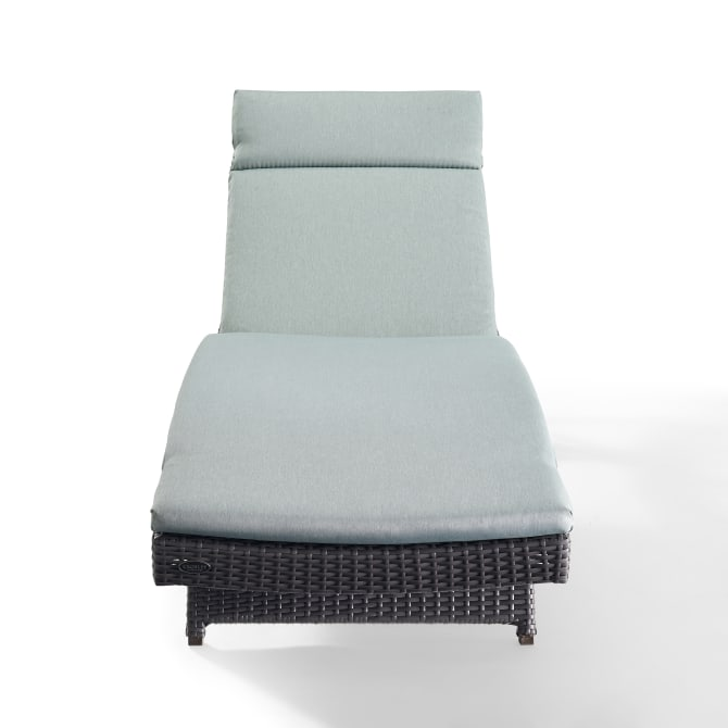 BISCAYNE OUTDOOR WICKER CHAISE LOUNGE