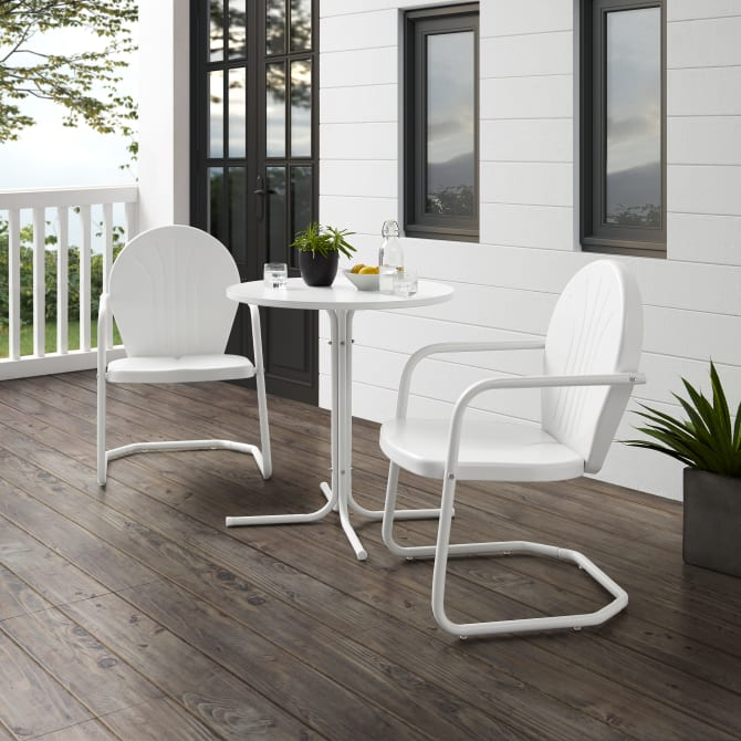GRIFFITH 3PC OUTDOOR METAL BISTRO SET