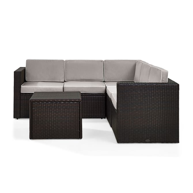 PALM HARBOR 6PC OUTDOOR WICKER SECTIONAL SET