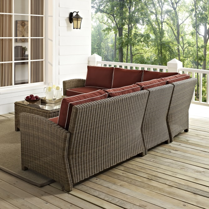 BRADENTON 5PC OUTDOOR WICKER SECTIONAL SET