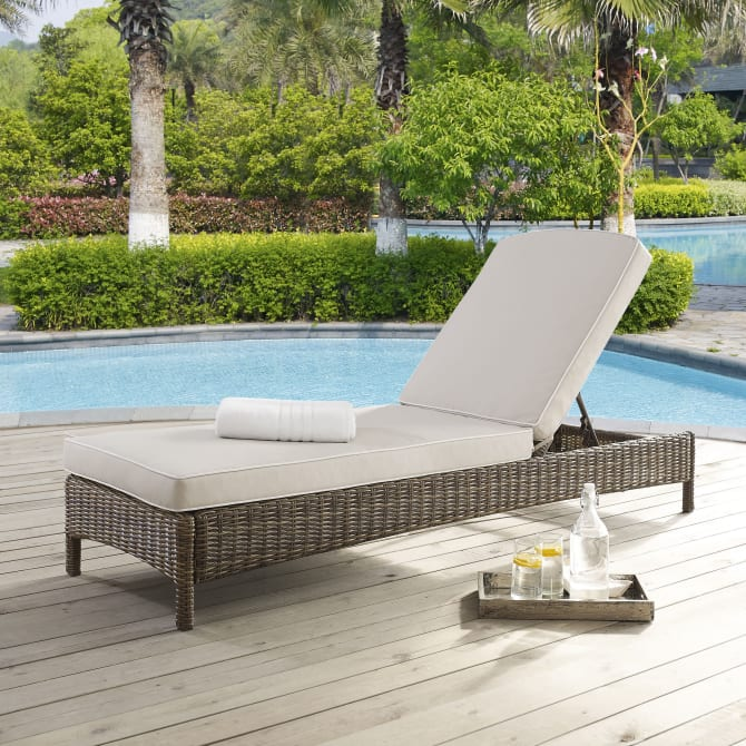 BRADENTON OUTDOOR WICKER CHAISE LOUNGE