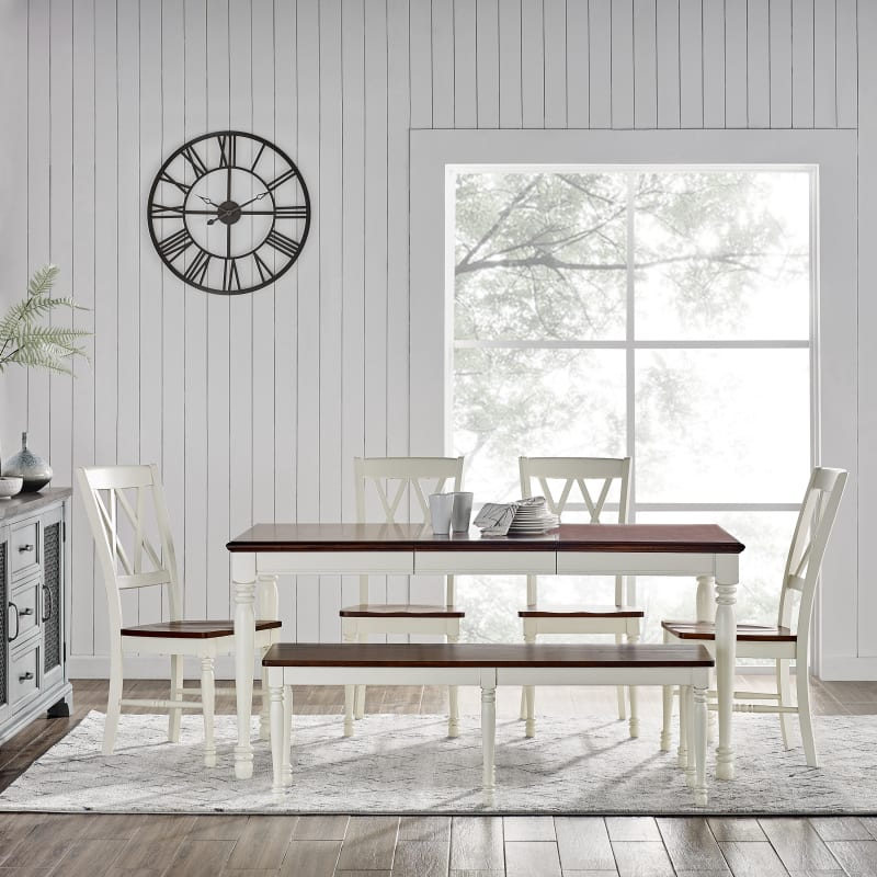 Crosley Furniture Shelby 6 Piece Dining Set
