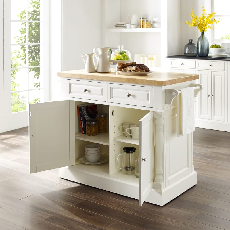 Crosley Furniture Oxford Butcher Block Kitchen Island