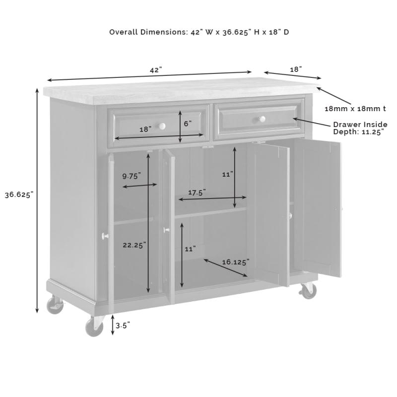 Crosley Furniture Madison Kitchen Cart