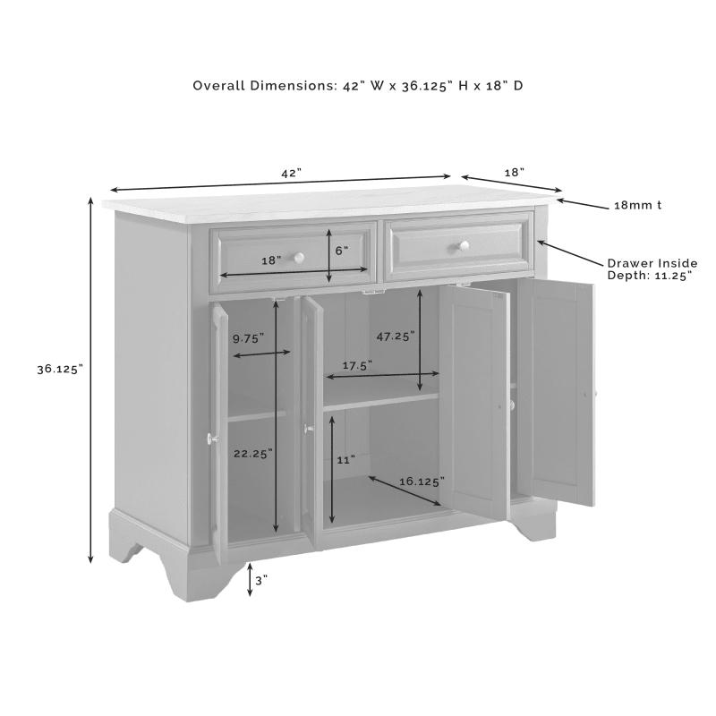 Crosley Furniture Avery Kitchen Island