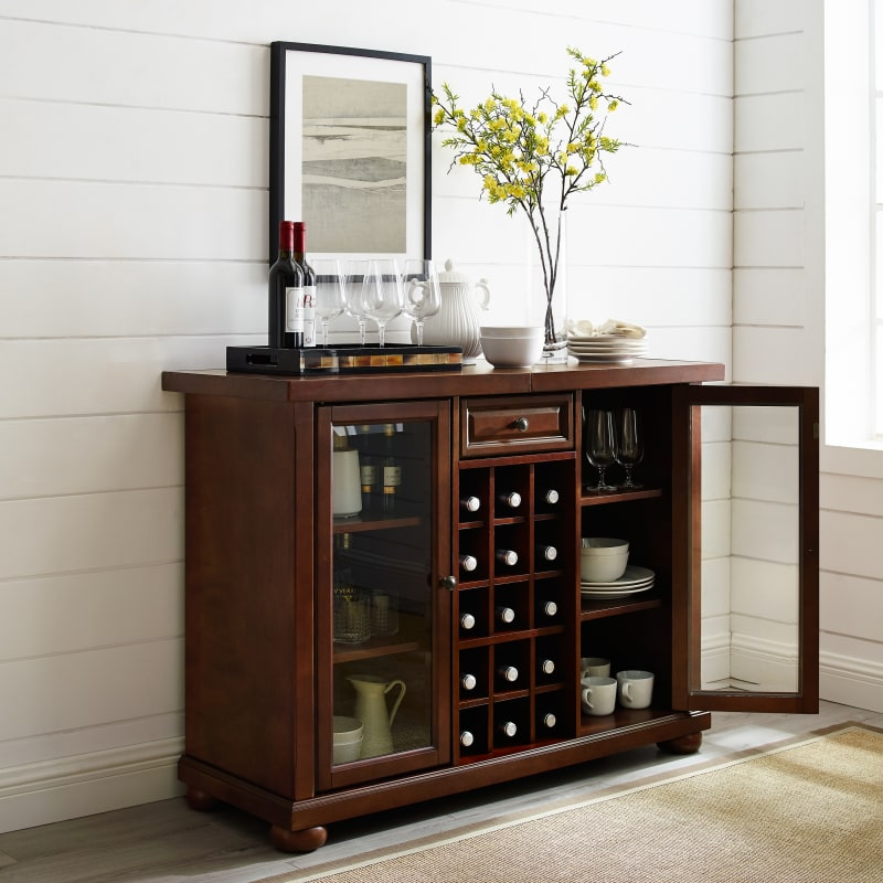 Crosley Furniture - ALEXANDRIA SLIDING TOP BAR CABINET