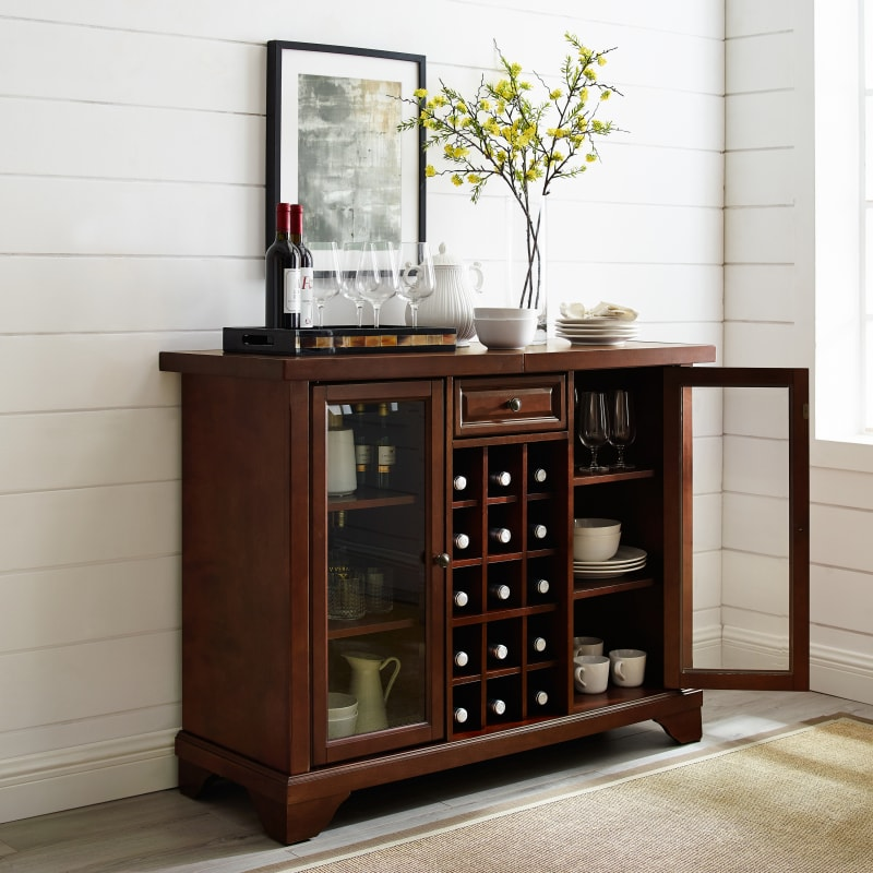 Crosley Furniture - LAFAYETTE SLIDING TOP BAR CABINET
