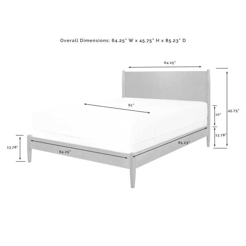 Crosley Furniture Landon Queen Bed, Landen Queen Upholstered Platform Bed