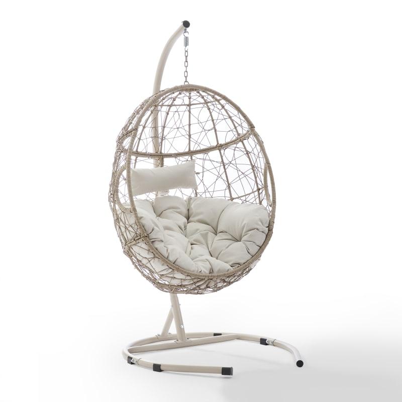 Crosley Furniture Cleo Indoor Outdoor Wicker Hanging Egg Chair